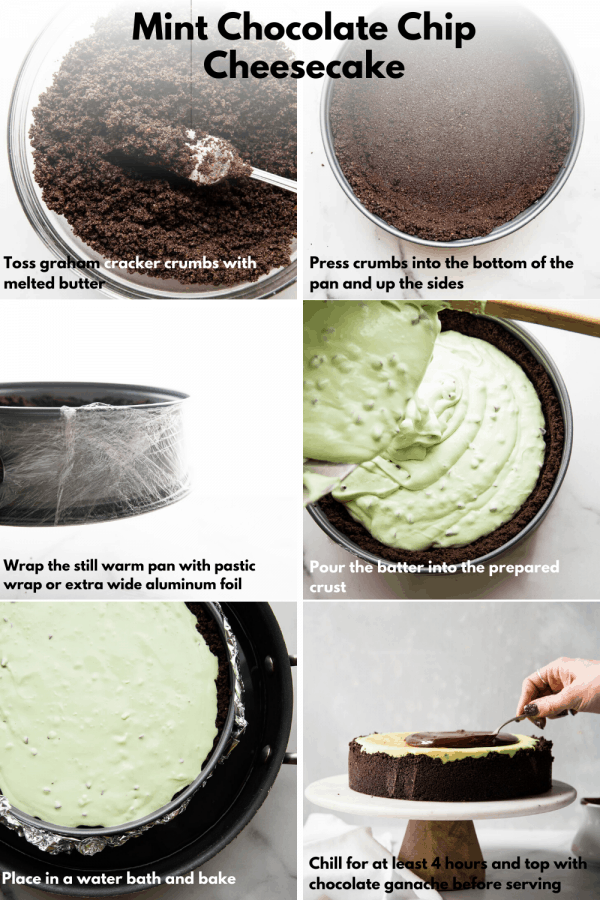collage of how to make cheesecake