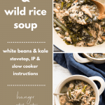 collage of chicken and wild rice soup photos
