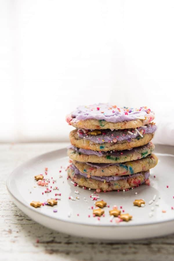 stacked cookies on a plate