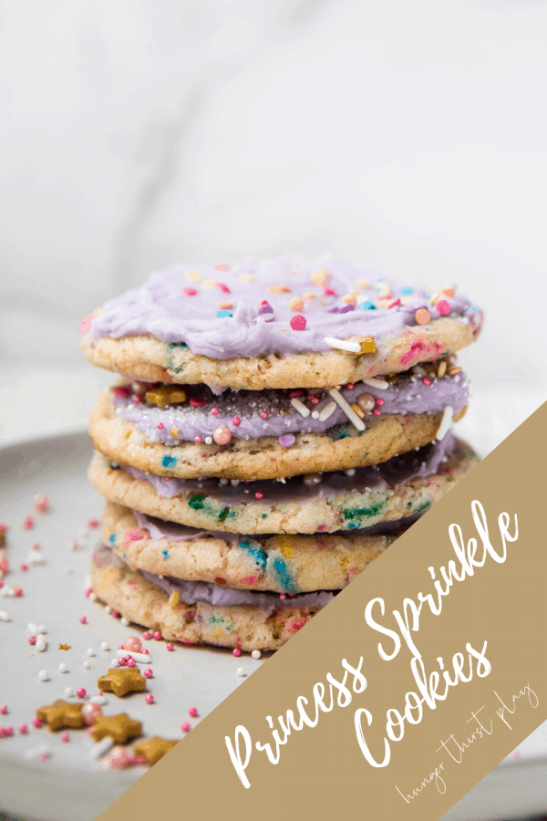 sprinkle cookies stacked on each other