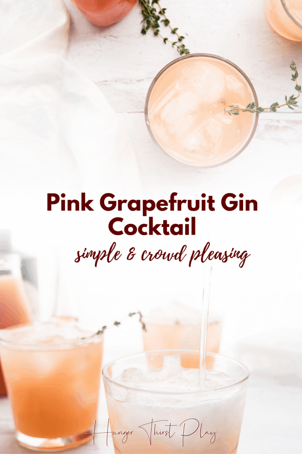 collage of grapefruit cocktail photos
