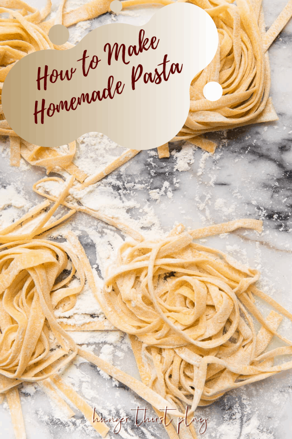 hand kneading pasta dough