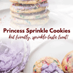 collage of princess sprinkle cookie photos
