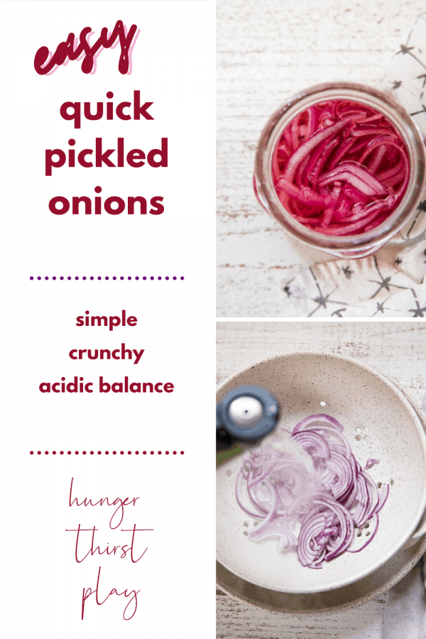 collage of making pickled onions