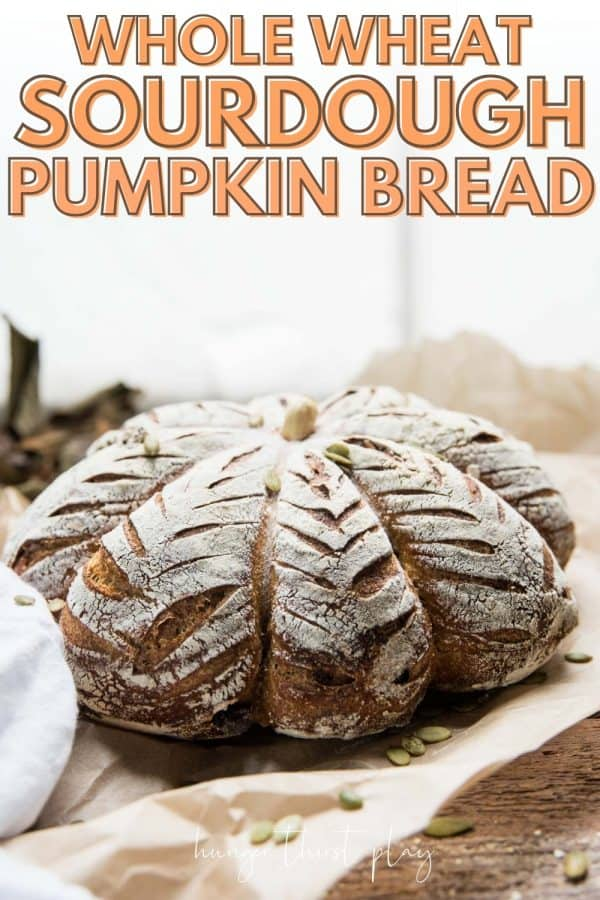 side angle of pumpkin shaped bread