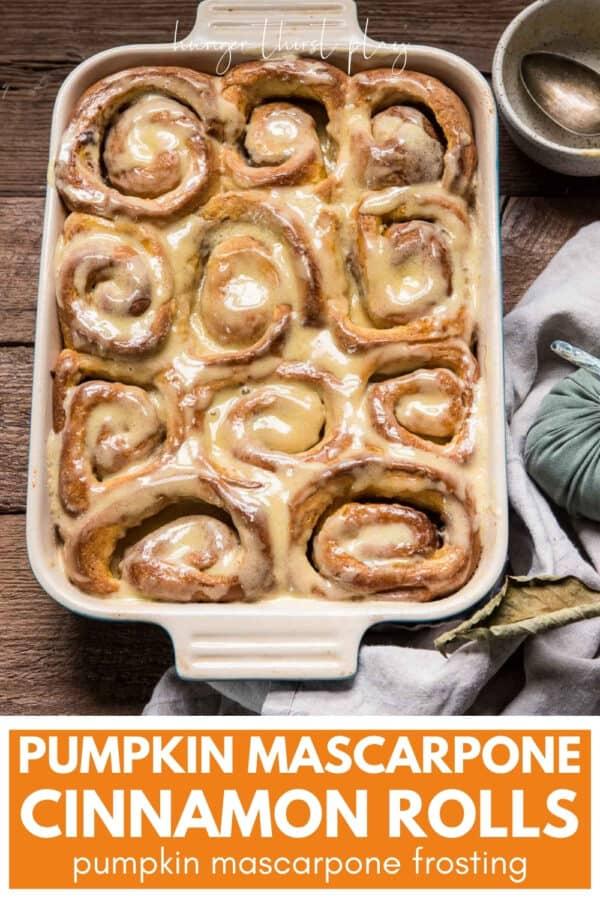glazed cinnamon rolls in a baking sheet