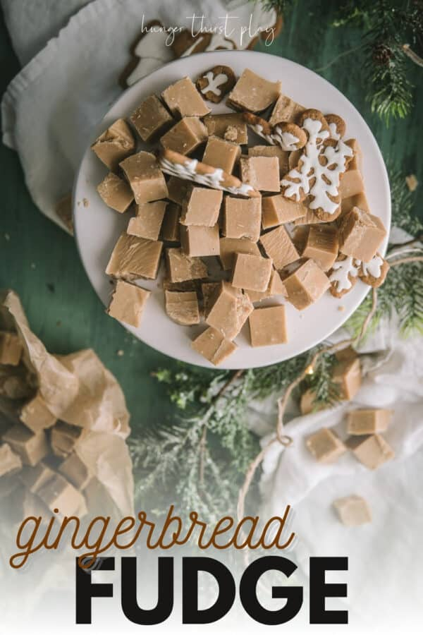 chopped gingerbread fudge