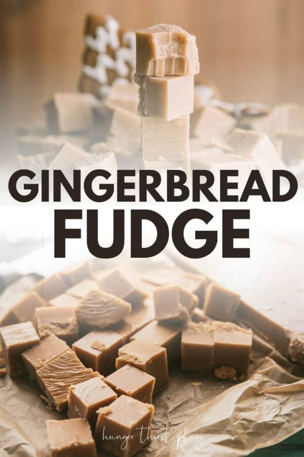 collage of gingerbread fudge pictures