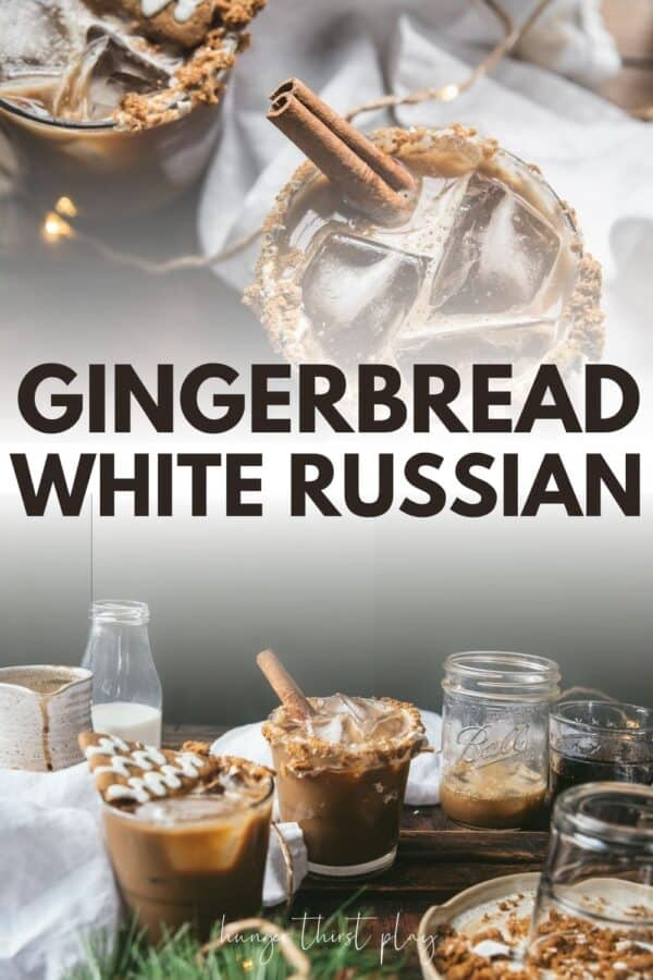 collage of gingerbread white russian photos