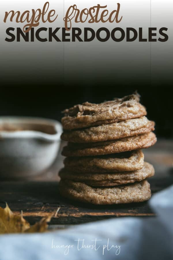 stacked cookies with dark background