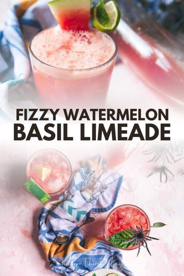 collage of watermelon limeade photos
