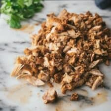 chopped and shredded chicken