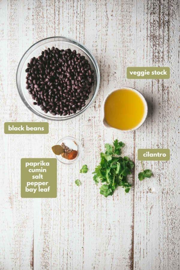 labeled black beans ingredients