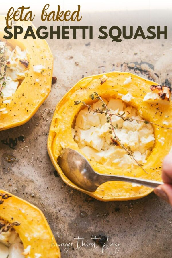 spoon scooping squash from rind