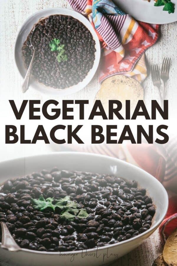 collage of vegetarian black bean photos