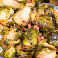 diced pancetta roasted with brussels sprouts