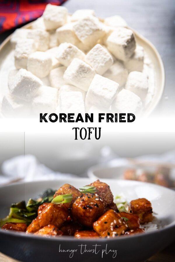 collage of korean fried tofu image