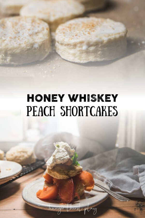 collage of peach shortcake images