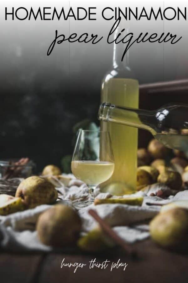liqueur pouring into cordial glass