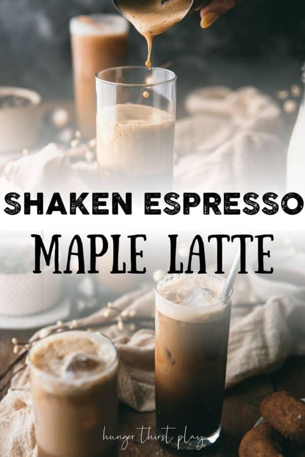 collage of maple latte photos